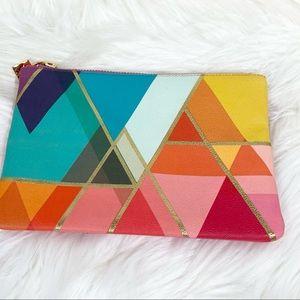 ☀️Erin Condren Rainbow Triangle Zipper Pouch